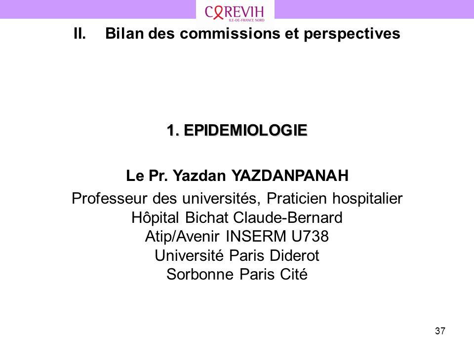 Bilan des commissions et perspectives Le Pr. Yazdan YAZDANPANAH