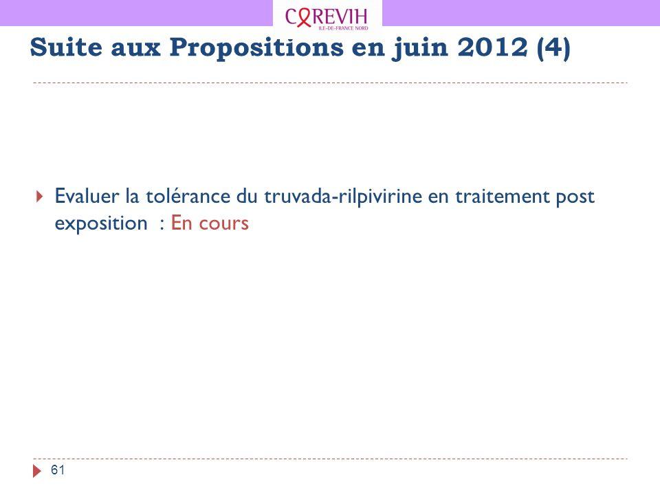 Suite aux Propositions en juin 2012 (4)