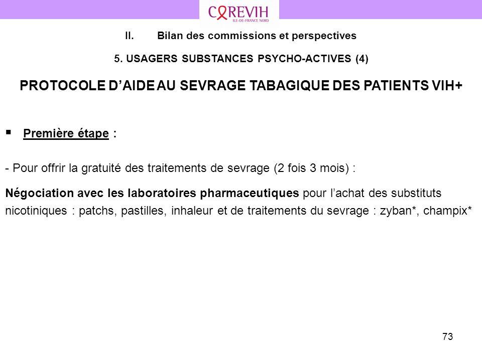 PROTOCOLE D'AIDE AU SEVRAGE TABAGIQUE DES PATIENTS VIH+