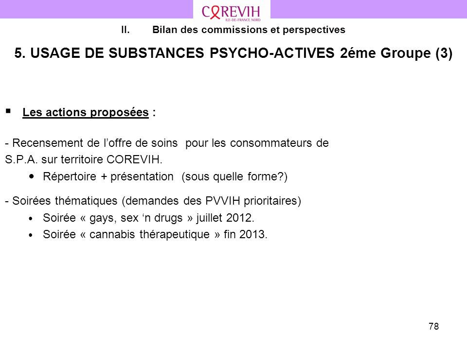 5. USAGE DE SUBSTANCES PSYCHO-ACTIVES 2éme Groupe (3)