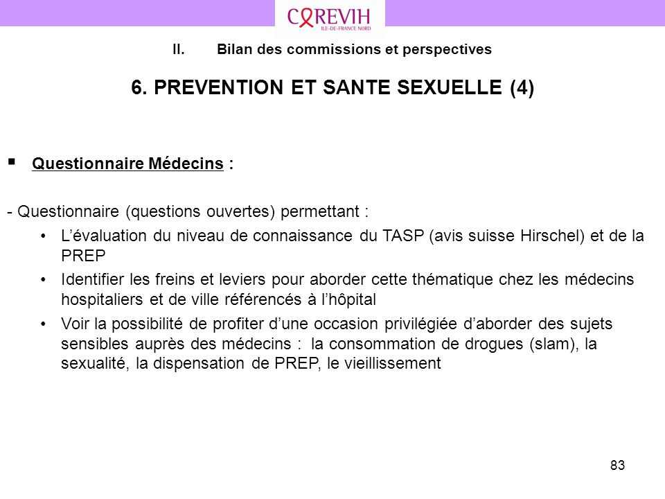 6. PREVENTION ET SANTE SEXUELLE (4)