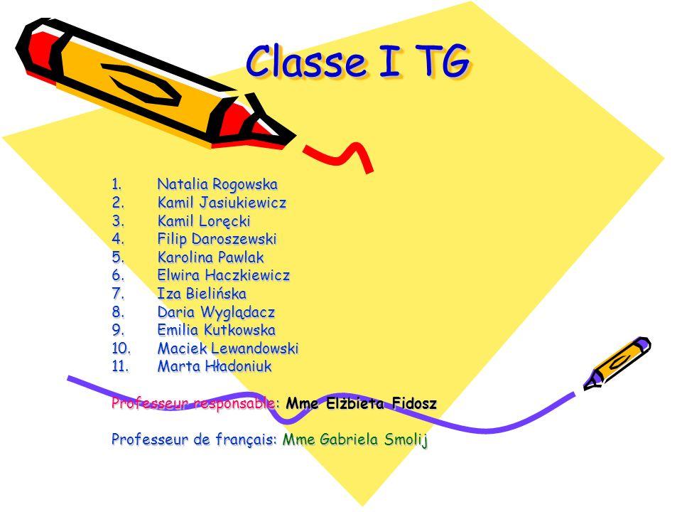 Classe I TG Natalia Rogowska Kamil Jasiukiewicz Kamil Loręcki