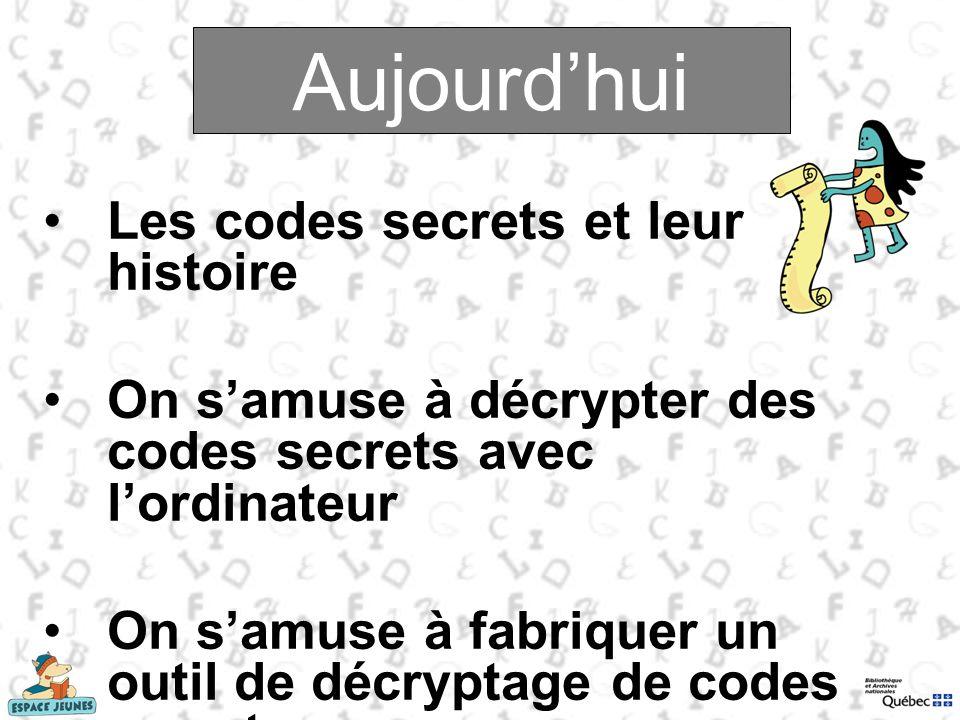 Aujourd'hui Aujourd'hui Les codes secrets et leur histoire