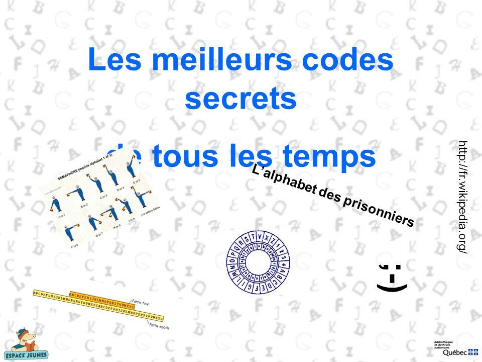 Les meilleurs codes secrets L'alphabet des prisonniers