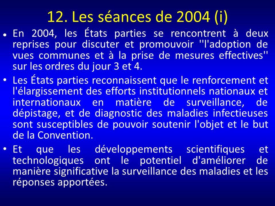 12. Les séances de 2004 (i)