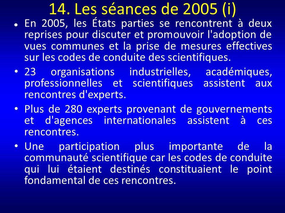 14. Les séances de 2005 (i)