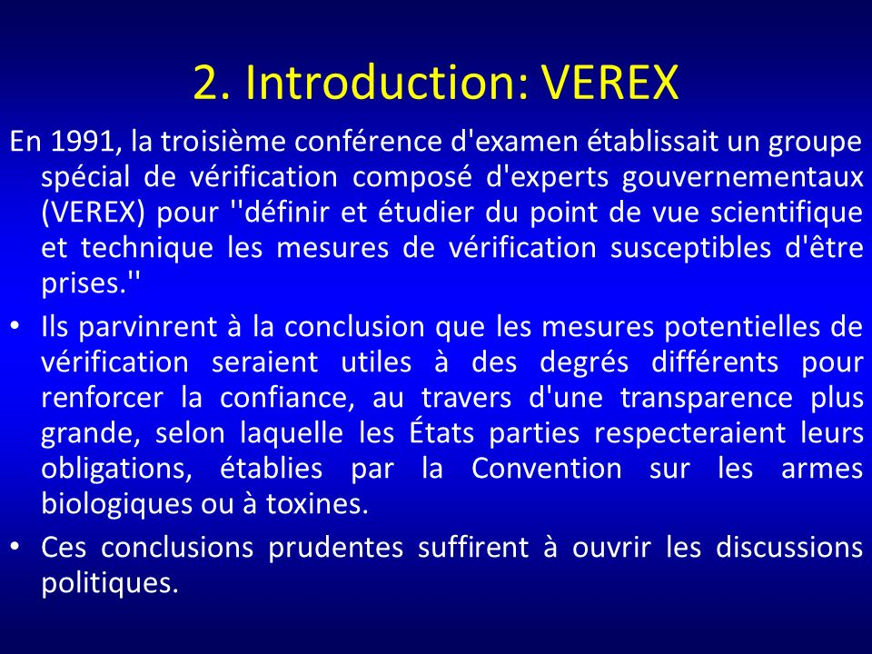 2. Introduction: VEREX