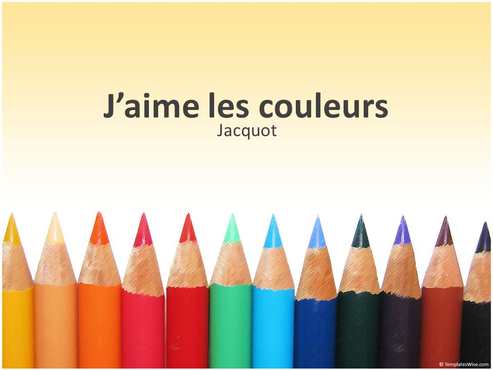 J'aime les couleurs Jacquot