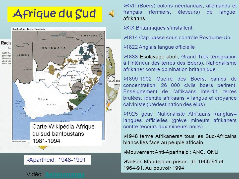 Afrique du Sud Carte Wikipédia Afrique du sud bantoustans 1981-1994