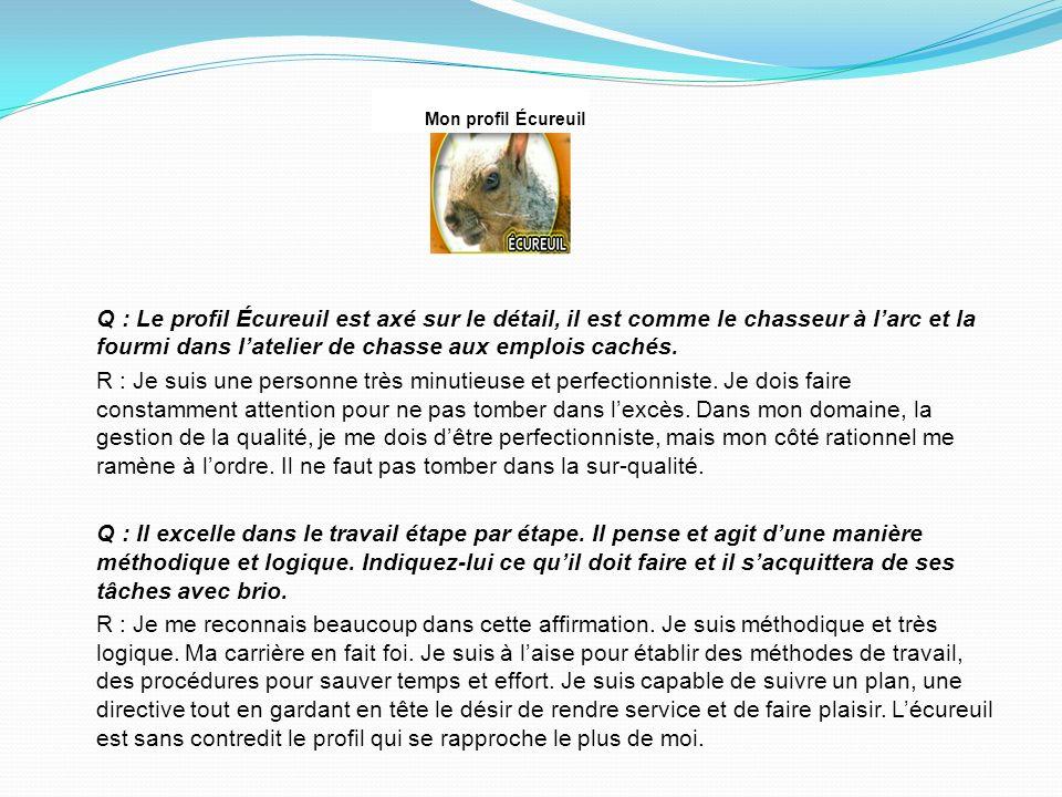 Mon profil Écureuil