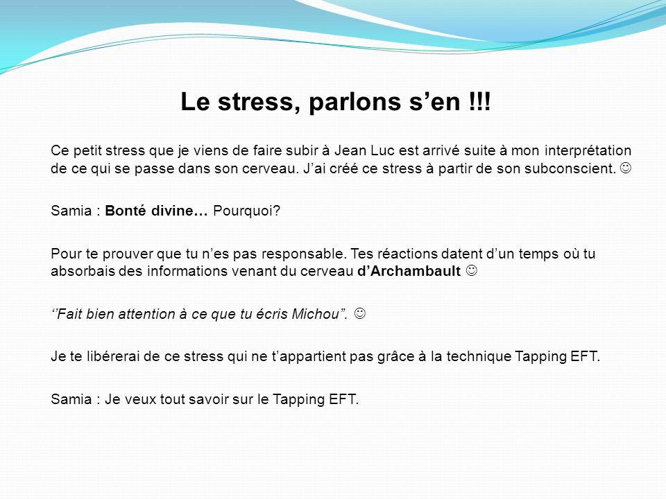 Le stress, parlons s'en !!!