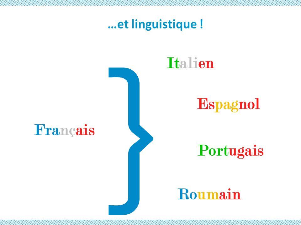 } …et linguistique ! Italien Espagnol Français Portugais Roumain