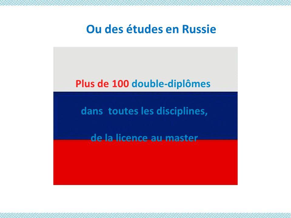 Plus de 100 double-diplômes dans toutes les disciplines,
