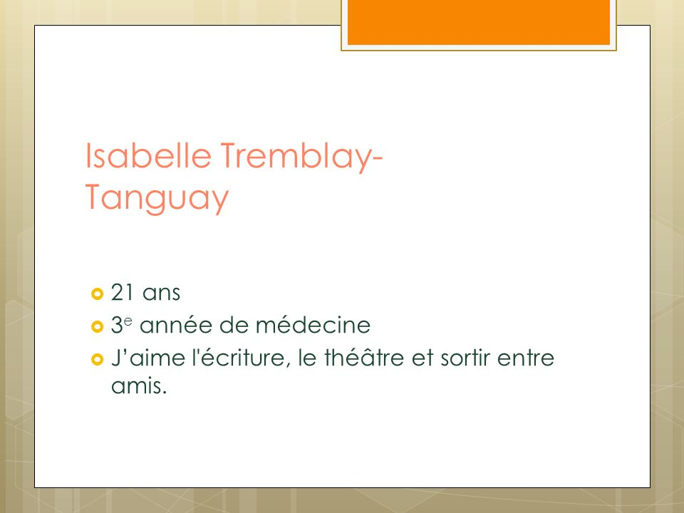 Isabelle Tremblay-Tanguay