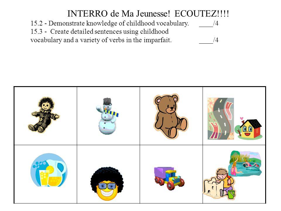 INTERRO de Ma Jeunesse! ECOUTEZ!!!!