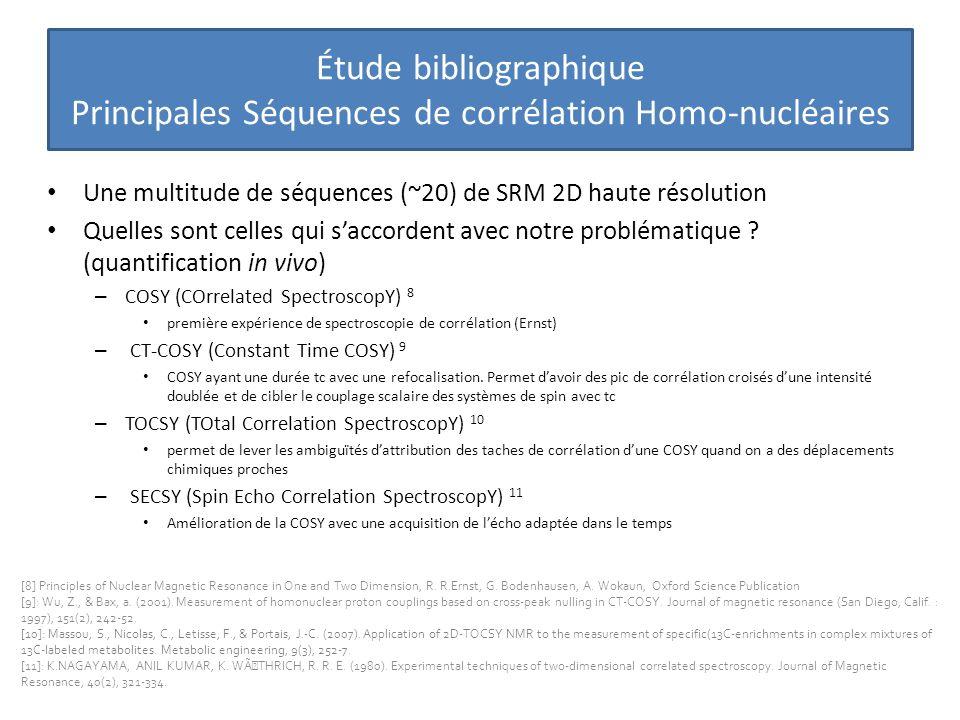 Étude bibliographique Principales Séquences de corrélation Homo-nucléaires