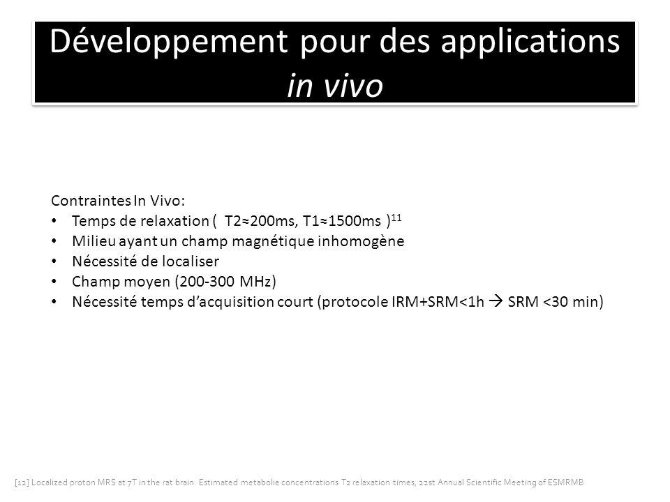 Développement pour des applications in vivo