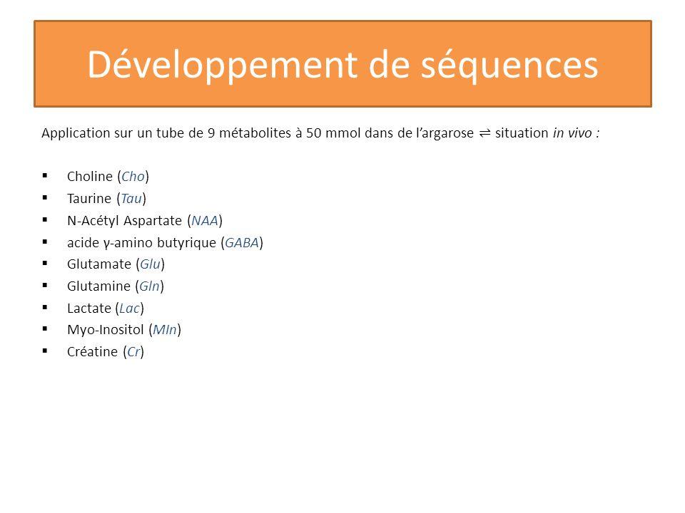 Développement de séquences