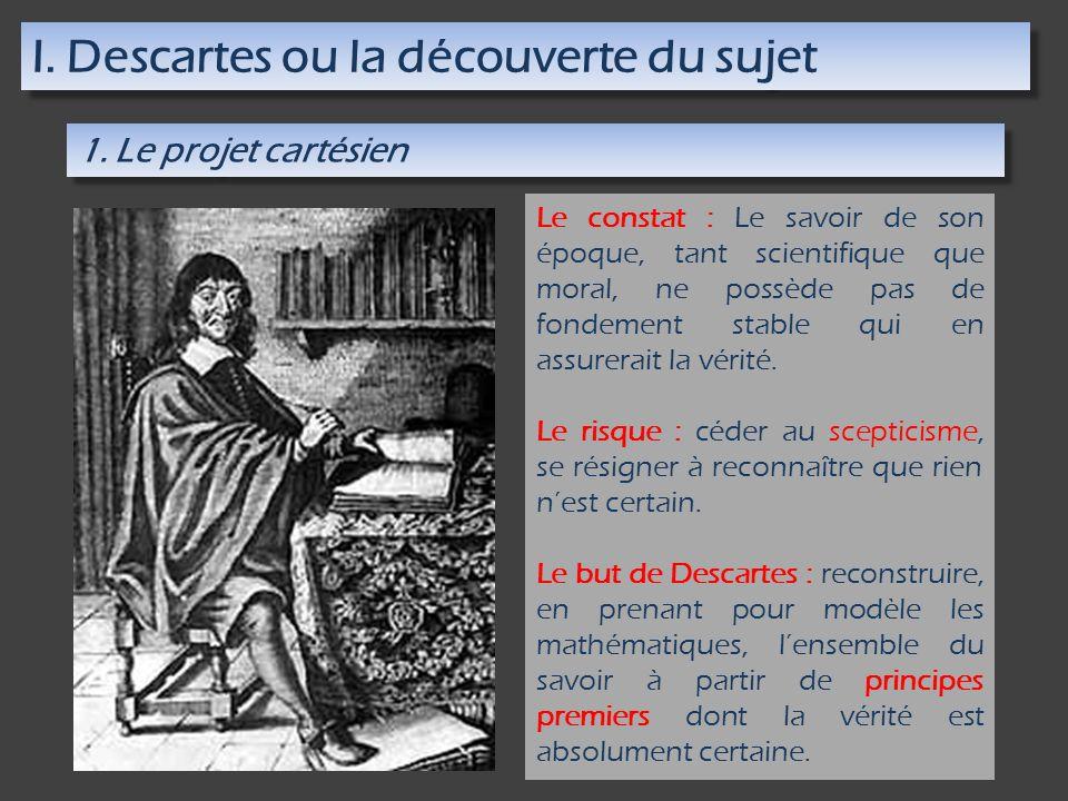 I. Descartes ou la découverte du sujet