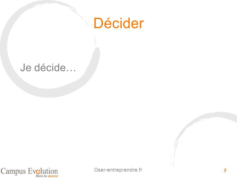 Décider Je décide…