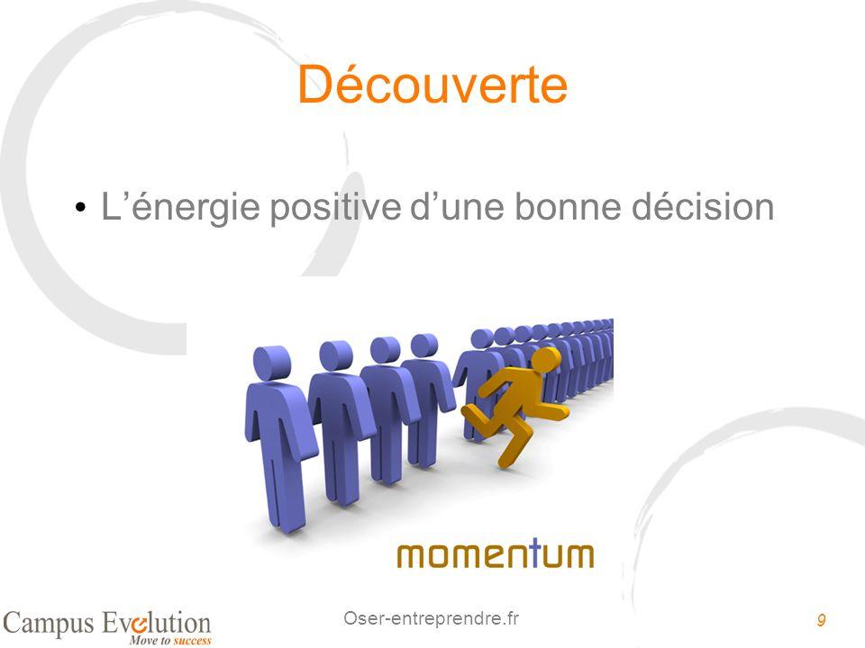 Découverte L'énergie positive d'une bonne décision
