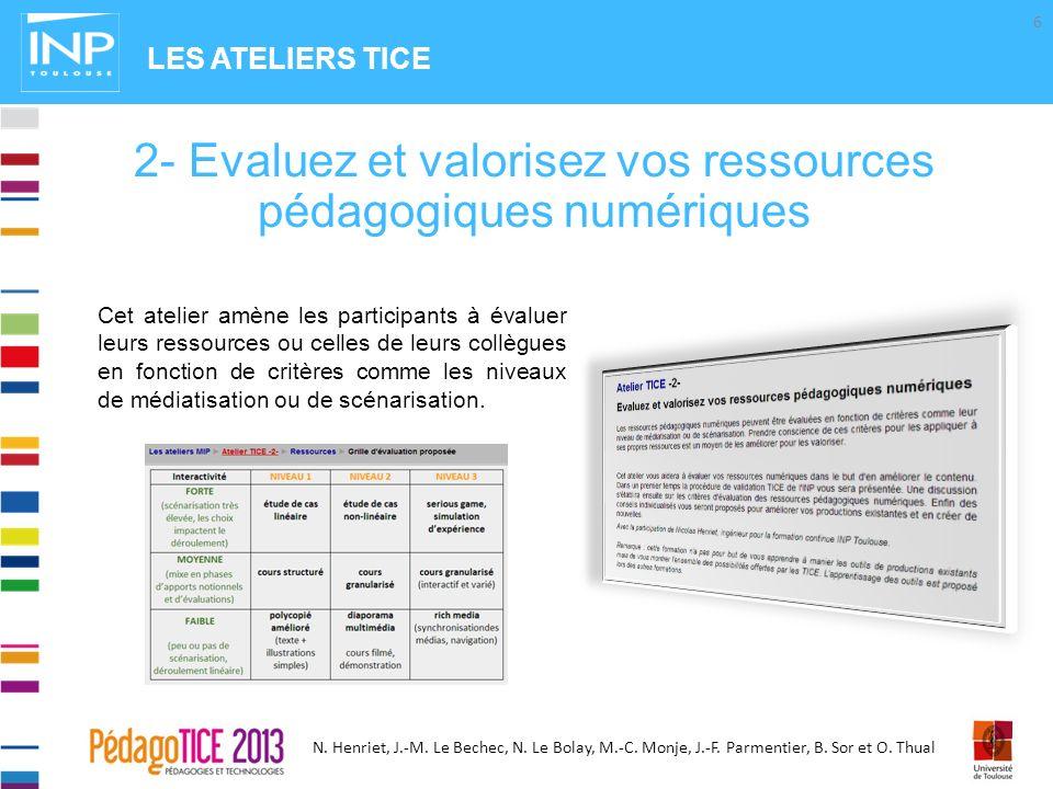 2- Evaluez et valorisez vos ressources pédagogiques numériques