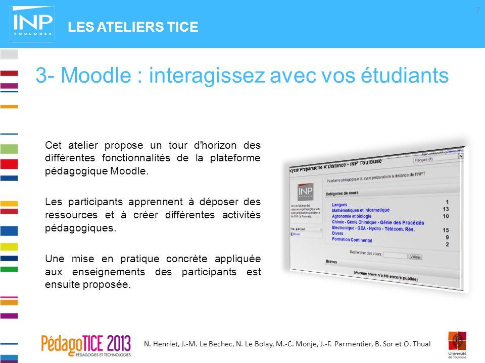 3- Moodle : interagissez avec vos étudiants