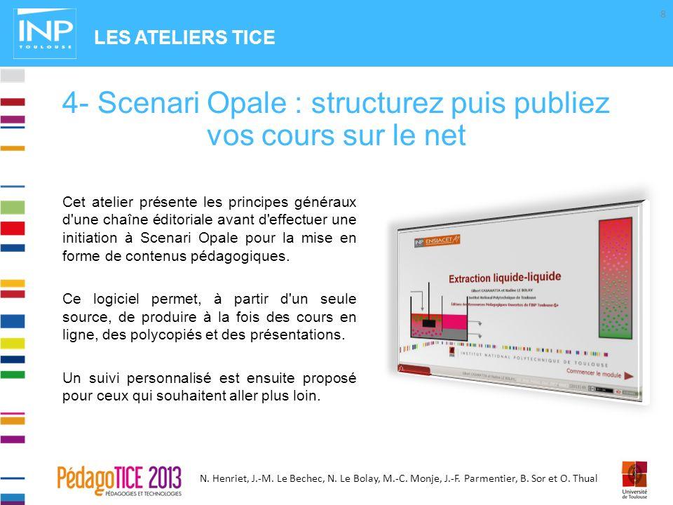 4- Scenari Opale : structurez puis publiez vos cours sur le net