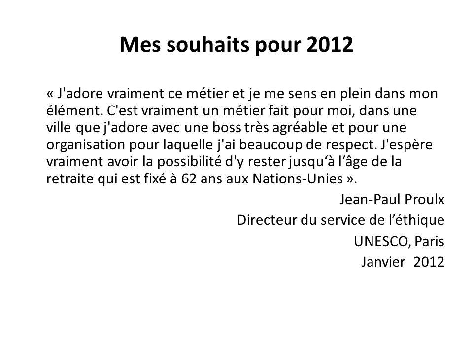 Mes souhaits pour 2012