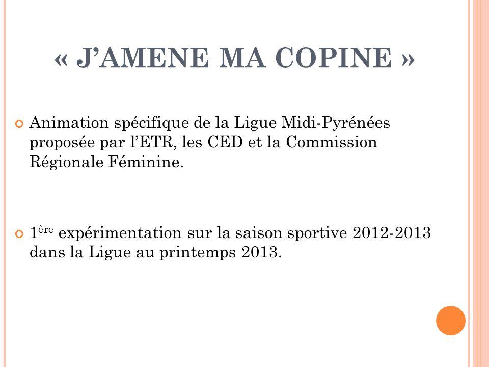 « J'AMENE MA COPINE » Animation spécifique de la Ligue Midi-Pyrénées proposée par l'ETR, les CED et la Commission Régionale Féminine.