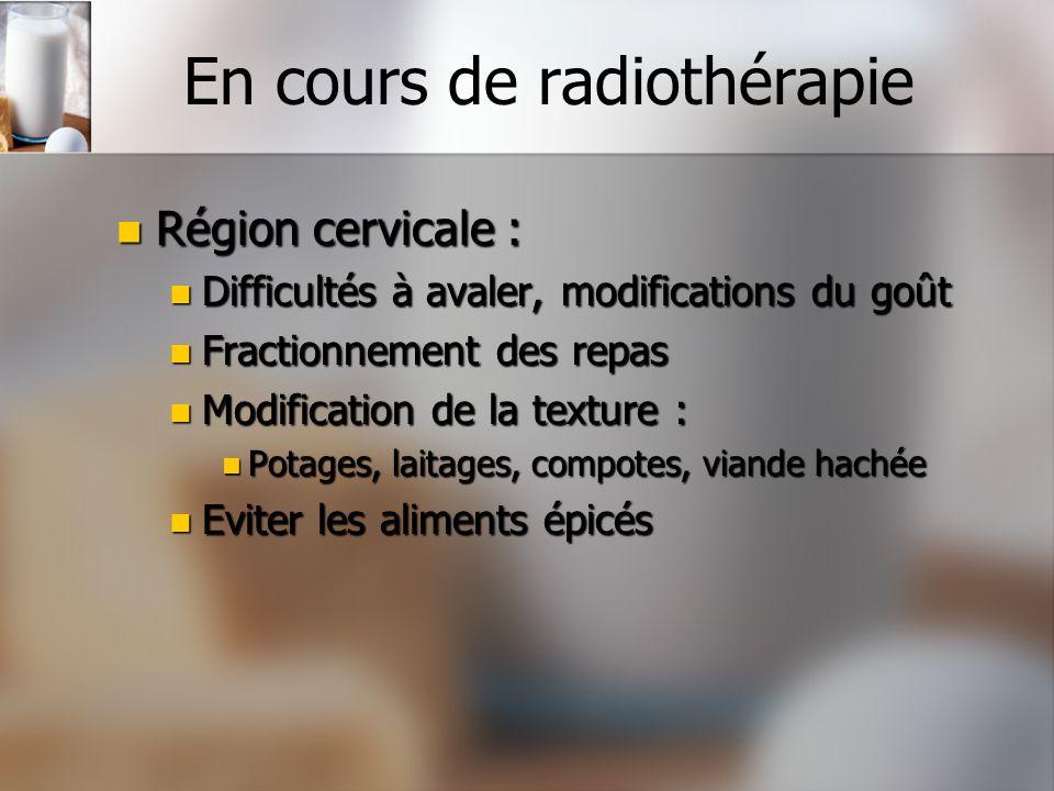 En cours de radiothérapie