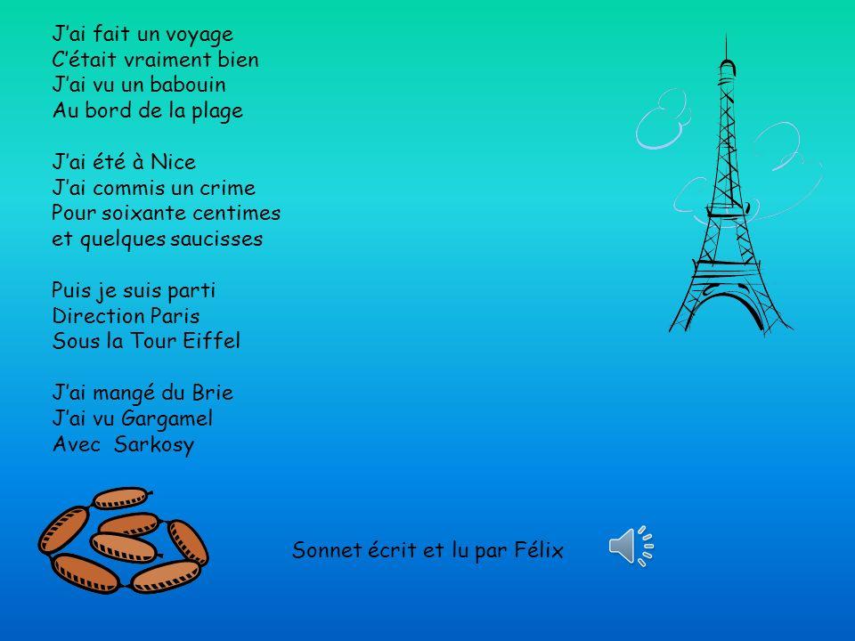 Sonnet écrit et lu par Félix