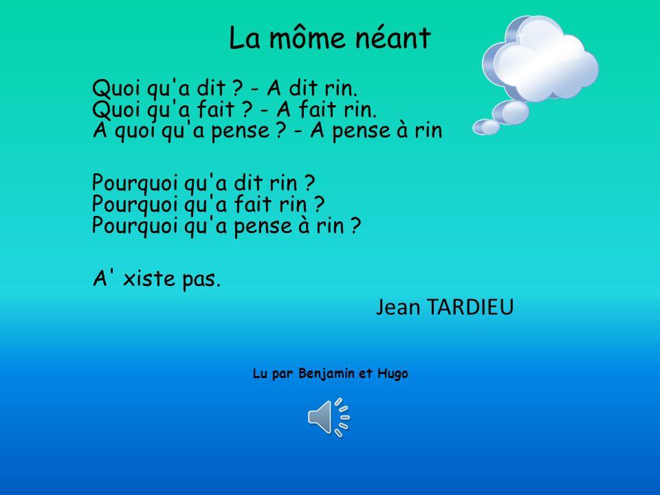 La môme néant Jean TARDIEU