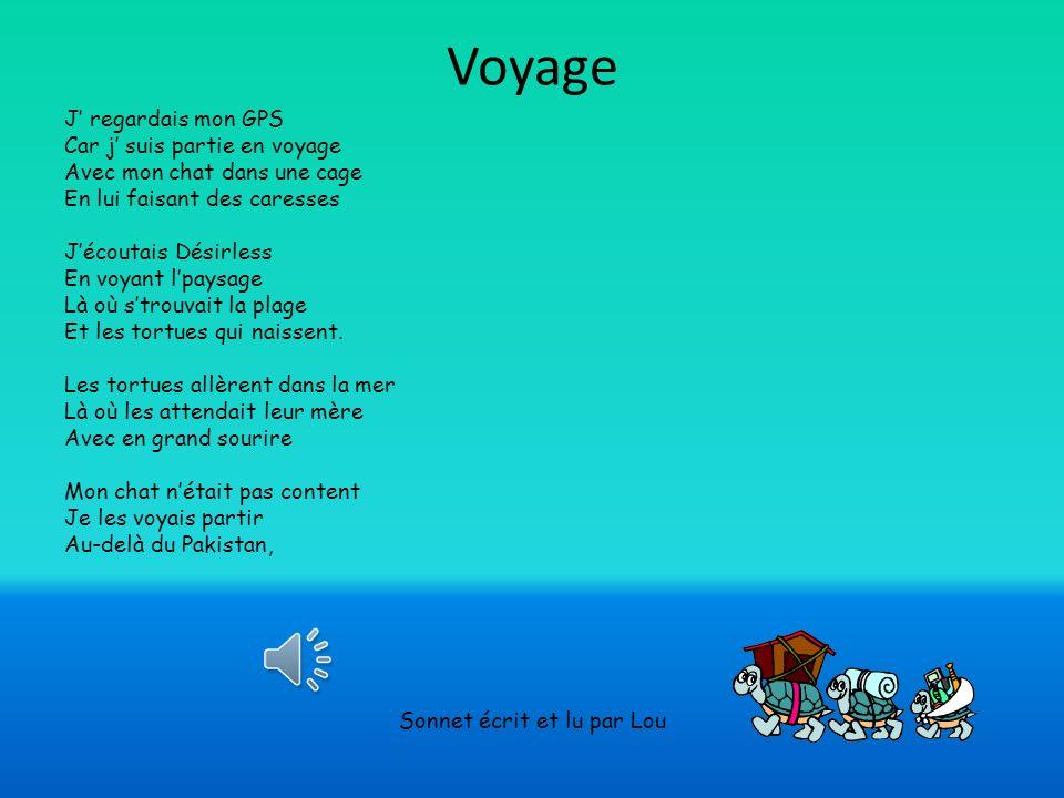 sonnet sur le voyage