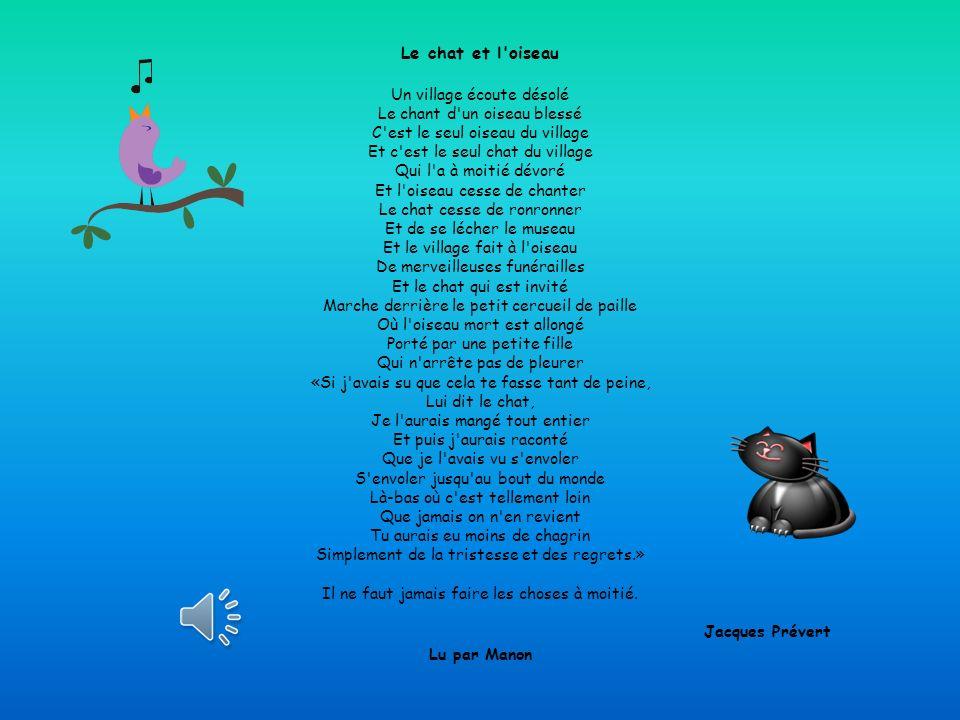 Jacques Prévert Lu par Manon