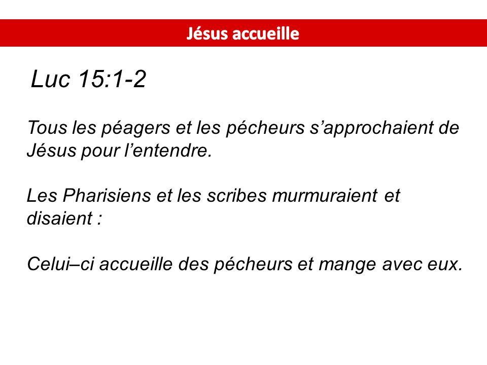 Les Pharisiens et les scribes murmuraient et disaient :
