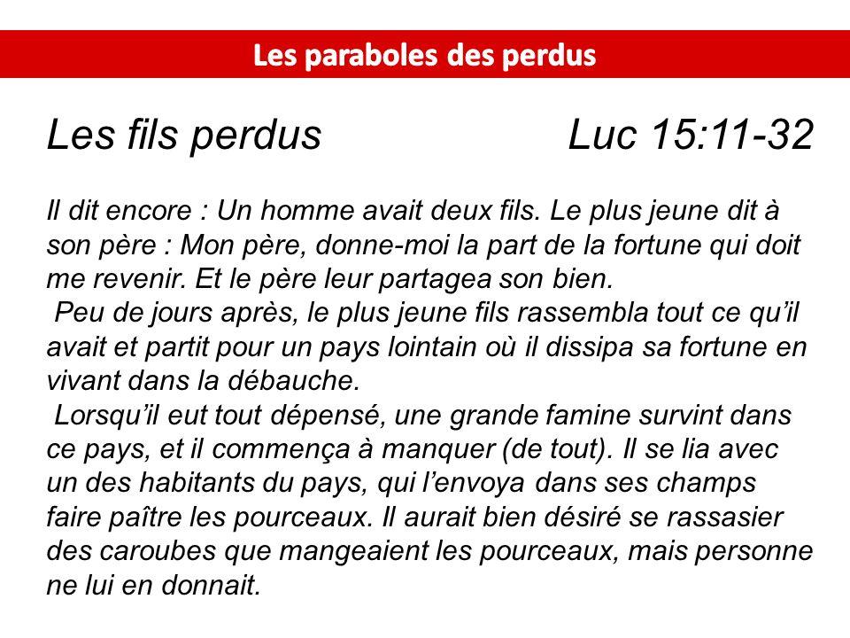 Les paraboles des perdus