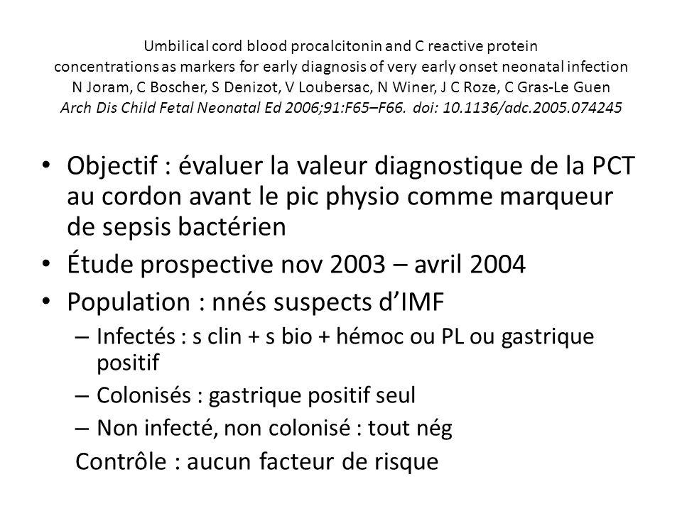 Étude prospective nov 2003 – avril 2004