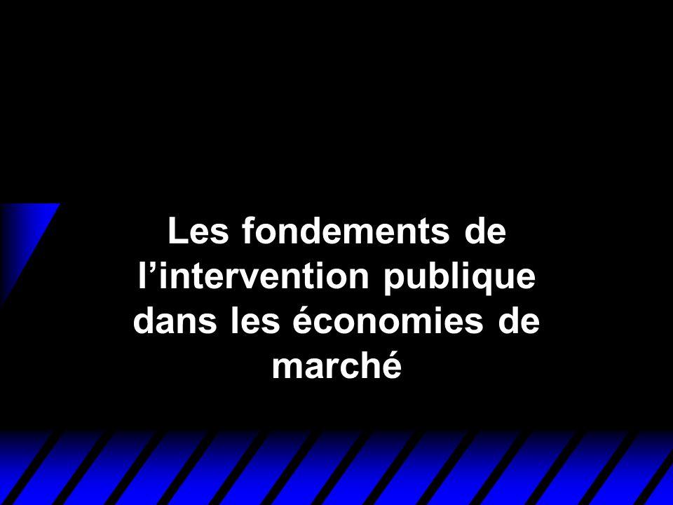 Les fondements de l'intervention publique dans les économies de marché