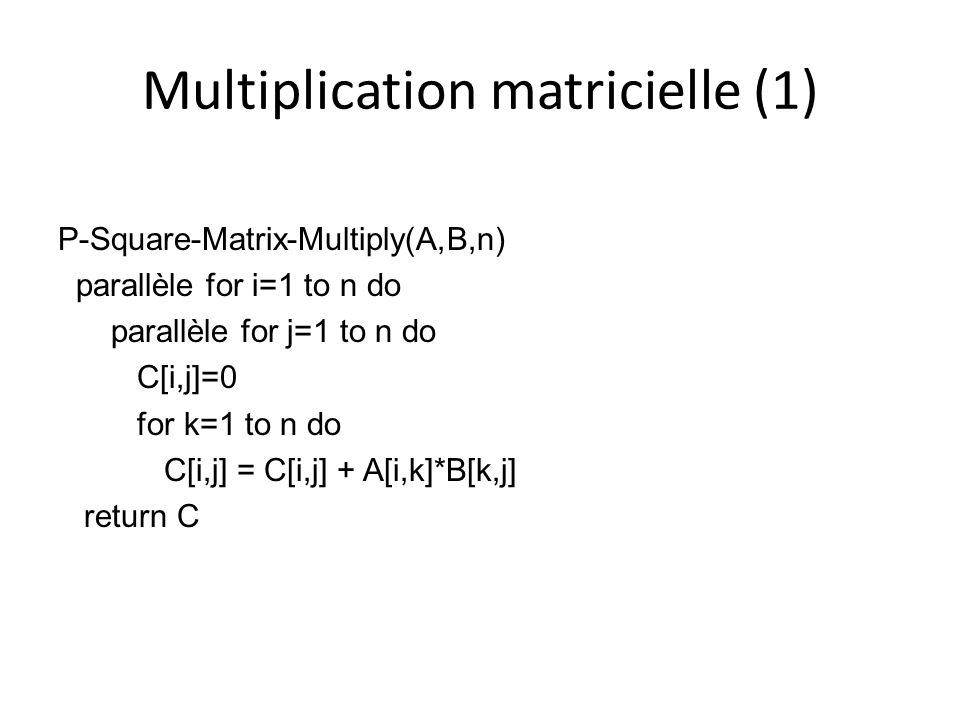 Multiplication matricielle (1)
