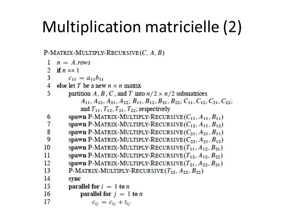 Multiplication matricielle (2)