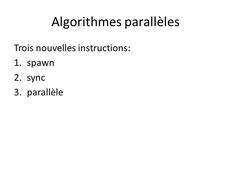 Algorithmes parallèles