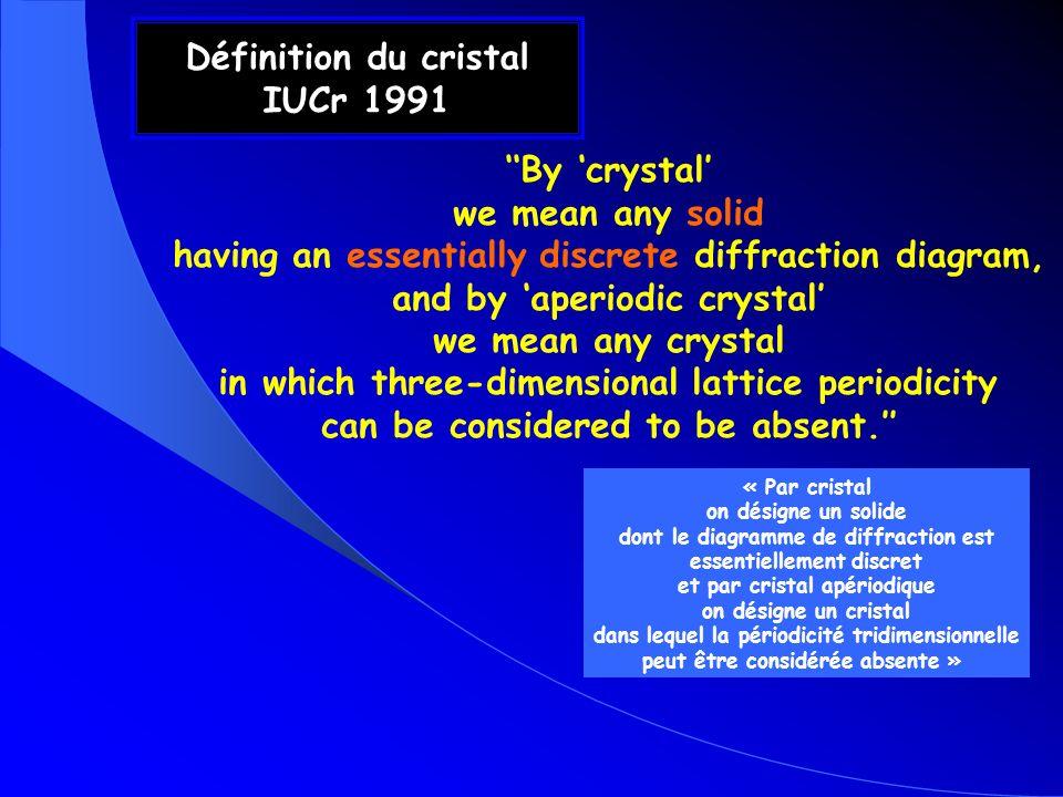 Définition du cristal IUCr 1991
