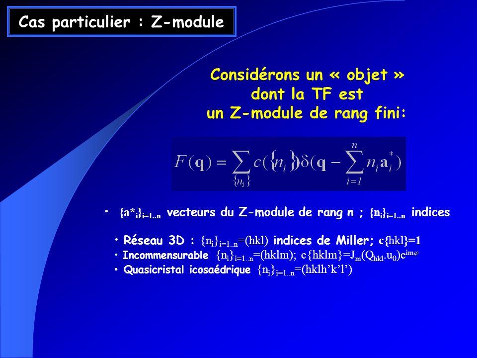Cas particulier : Z-module