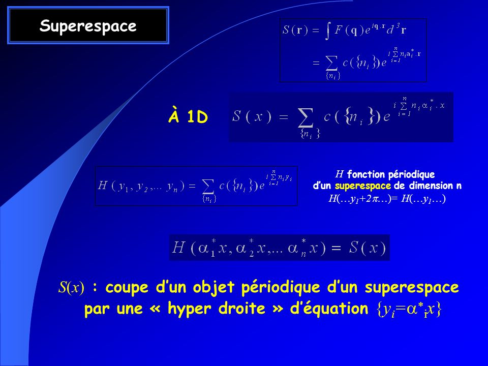 d'un superespace de dimension n
