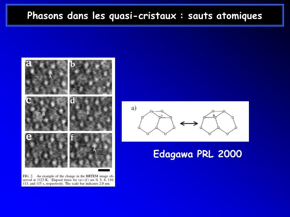 Phasons dans les quasi-cristaux : sauts atomiques