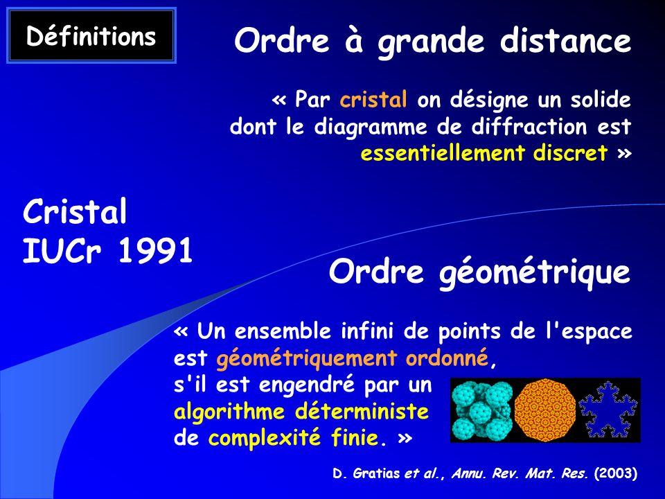 D. Gratias et al., Annu. Rev. Mat. Res. (2003)