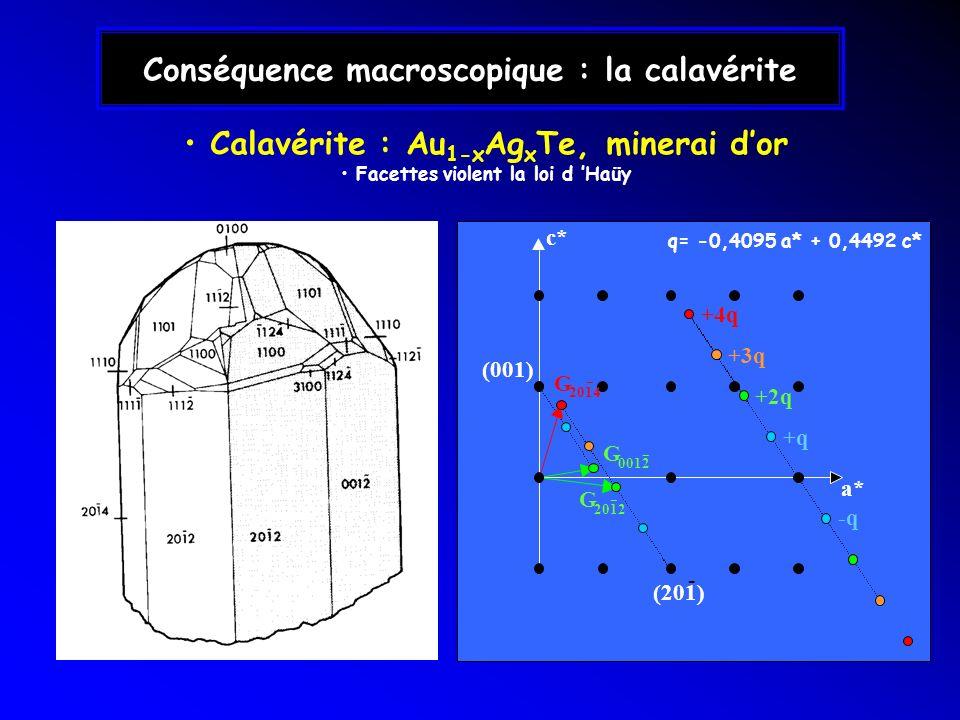 Conséquence macroscopique : la calavérite