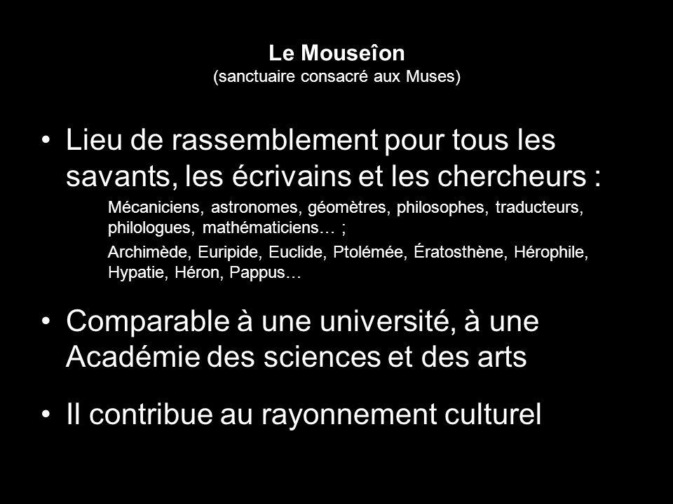 Le Mouseîon (sanctuaire consacré aux Muses)