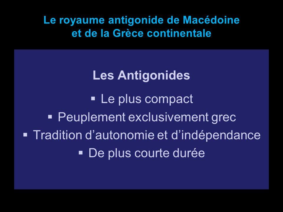 Le royaume antigonide de Macédoine et de la Grèce continentale